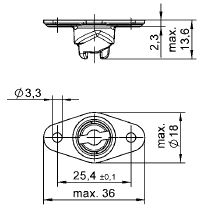 turnlock HGRR33BZ technical drawing