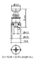 turnlock HGRTLC-41S technical drawing