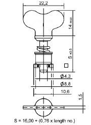 turnlock HGRTLW-35S technical drawing