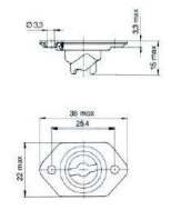turnlock HGRRTFE33S technical drawing