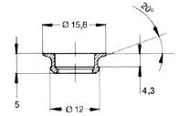 turnlock HGRGF165218Z technical drawing