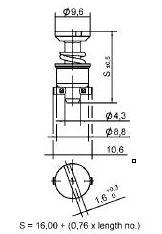 turnlock HGRTLS-21Z technical drawing