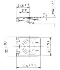 turnlock HHSRS15-35Z technical drawing