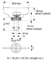 turnlock HHSTLWF-19Z technical drawing
