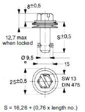turnlock HHSTLHS-24S technical drawing