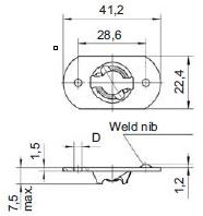 turnlock HHSRF41Z technical drawing