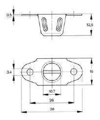 turnlock HPTR34Z technical drawing