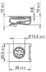 turnlock LEARC0856Z technical drawing