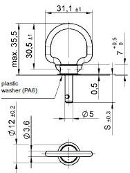 turnlock LEATLFB-42Z technical drawing