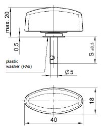 turnlock LEATLWP-27Z technical drawing
