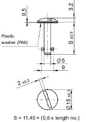 turnlock LEATLS-6S technical drawing