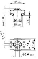 turnlock LEARS1020Z technical drawing