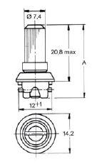 turnlock LOPHSTLK20-32Z technical drawing