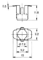 turnlock LPTR10-15S technical drawing