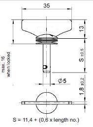 turnlock MHSTLW-13Z technical drawing