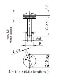 turnlock MHSTLS-22S technical drawing