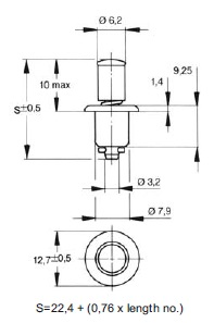 turnlock MPPTL-7N technical drawing