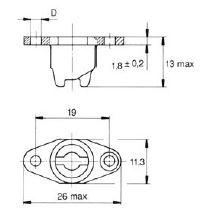 turnlock MTHRN25BZ technical drawing