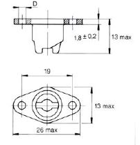 turnlock MTHR33BZ technical drawing