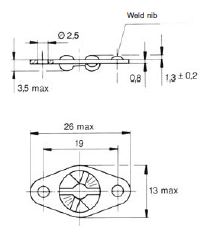 turnlock MTHRF25Z technical drawing