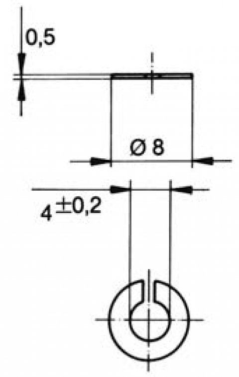turnlock MTHWSS technical drawing