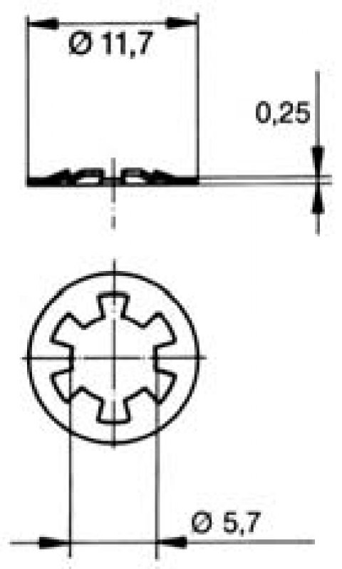 turnlock MTHWFS technical drawing