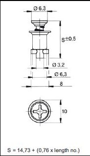 turnlock MTHFTLC-17Z technical drawing