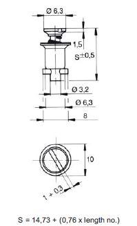 turnlock MTHFTLS-4Z technical drawing